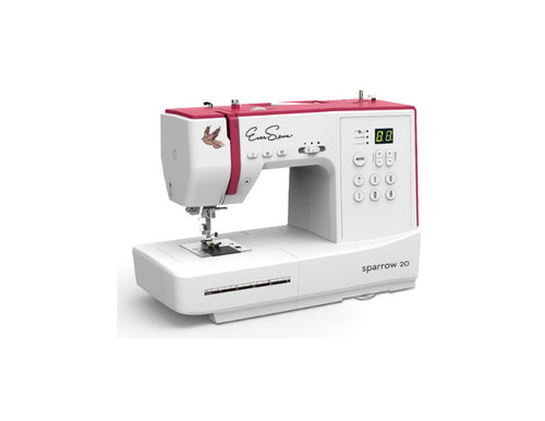 Eversewn-Sparrow20 computerized sewing machine.  Great beginner or take-along machine.  This machine has 80 built-in stitches and sports all the got-of-have features, Drop-in Hook System, 163mm Free Arm, Needle stop up/down, and much more!
