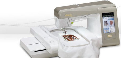 """The Ellageo Plus embroiders up to 6-1/4"""" x 10-1/4"""" (160mm x 260mm) embroidery field."""