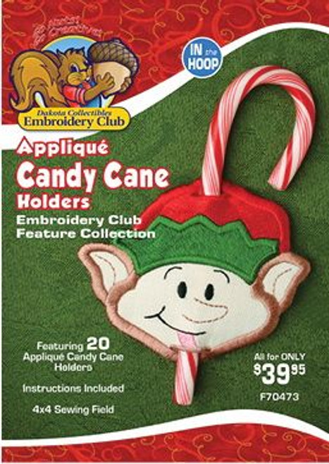 Applique Candy Cane Holders