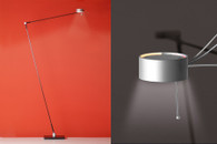 "Task Floor Lamp Dull with ""Touch-O-Matic"""