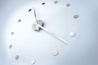 Stainless Wall Clock Stainless Steel