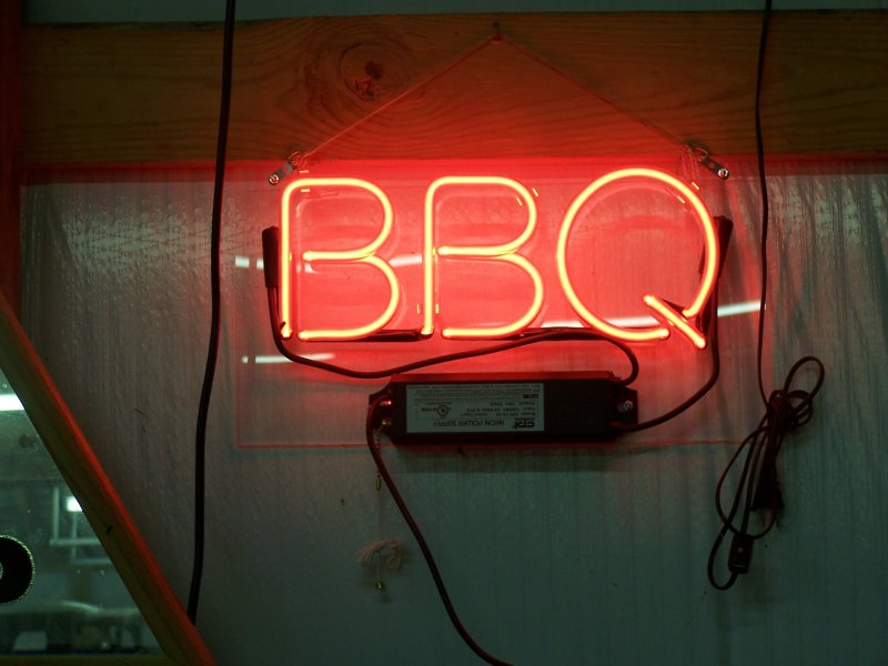 Neon Commercial BBQ Restaurant Sign