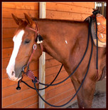 22 ft. Mecate Reins with optional Slobber Straps.