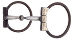German Silver Antique Brown D-Ring Snaffle