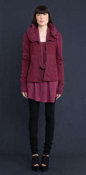 Prairie Underground - Cloak Hoodie in Beet $230 - Show Pony Boutique