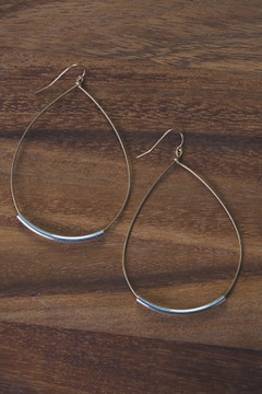 Veronica & Harold - Chloe Gold Teardrop Hoop with Sterling Tube $53 - Show Pony Boutique