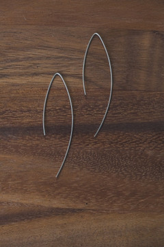 Veronica & Harold - Larissa Simple Hooks in Sterling Silver $35 - Show Pony Boutique