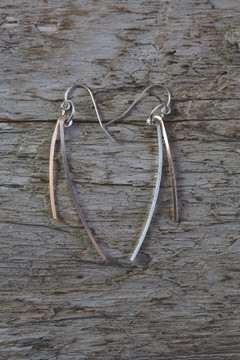Veronica & Harold - Rachel Two-Tone Stick Earrings $58 - Show Pony Boutique
