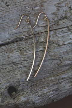 Veronica & Harold - Sabrina Long Stick Earrings in Gold $40 - Show Pony Boutique