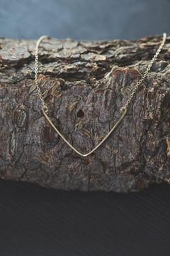 Veronica & Harold - Blair Chevron Necklace in Gold $63 - Show Pony Boutique