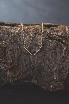 Veronica & Harold - Baby Blair Chevron Necklace in Gold $60 - Show Pony Boutique