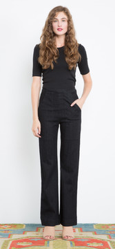 Prairie Underground - 1/4 Sleeve Crew Neck in Black $66 - Show Pony Boutique