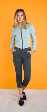 Prairie Underground - Pin-Up Legging in Drab $150 - Show Pony Boutique