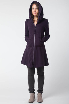 Prairie Underground - Long Cloak Hoodie in Inkpot $264 - Show Pony Boutique