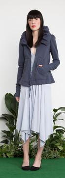 Prairie Underground - Cloak Hoodie in Blue Suede $230 - Show Pony Boutique
