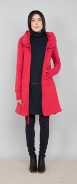 Prairie Underground - Long Cloak Hoodie in Lipstick $264 - Show Pony Boutique