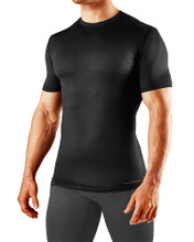 0801MR Tommie Copper Men's Recovery Compression Short Sleeve Crew Neck Shirt in Black
