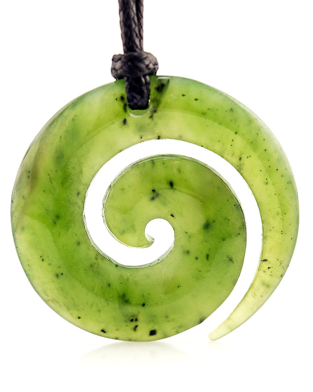Greenstone jade Koru