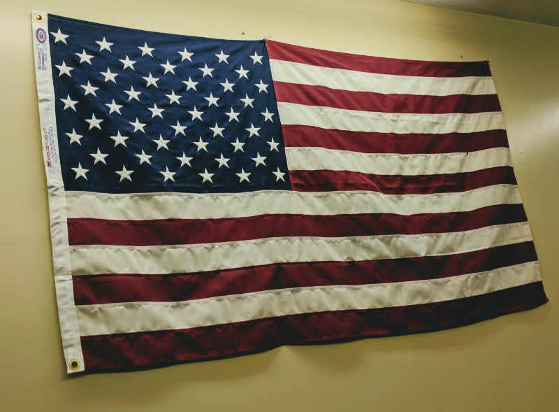 Photo of the US Flag.