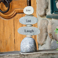 Caim Sculpture | Live, Love, Laugh - Cut Stone