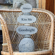 Caim Sculpture | Always, Kiss Me, Goodnight - Cut Stone