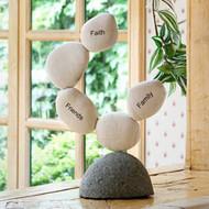 Circle Cairn Sculpture - Faith Friends Family