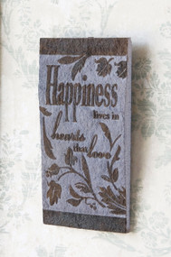 Japanese Slate Wall Plaque - Happiness