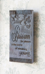 Japanese Slate Wall Plaque - Passion