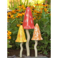 Garden Decor - Ceramic Toadstools - Summer Themed Colors