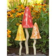 Garden Decor - Ceramic Toadstools - Summer Themed Colors
