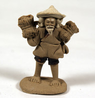 Chinese Mudman Figurine | Man Carrying the Load (MM218)