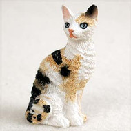 Tortoise & White Cornish Rex Figurine
