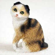 Tortoise & White Scottish Fold Figurine