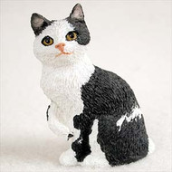 Black & White Manx Figurine