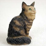 Brown Tabby Maine Coon Cat Tiny One Figurine (CTN17)