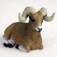 Big Horn Sheep Bonsai Tree Figurine