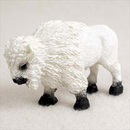 Buffalo White Bonsai Tree Figurine