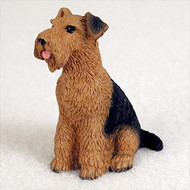 Airedale Bonsai Tree Figurine