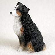 Australian Shepherd Tricolor w/Docked Tail Bonsai Tree Figurine