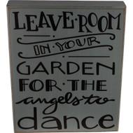 Fairy Garden Figurine - Fairy Garden Sign - Angels Dance in the Garden (FGF-013)