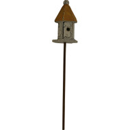 Fairy Garden Figurine - Bird House with Yellow Roof (FGF-021)