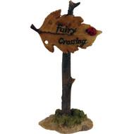 Fairy Garden Figurine - Fairy Crossing Leaf Sign (FGF-044)
