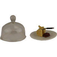 Fairy Garden Figurine - Cheese Plate and Dome (FGF-070)