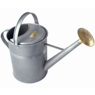 Bonsai Tree Watering Can - Haws | Traditional Metal 2.3 Gallons (Titanium) Bonsaioutlet