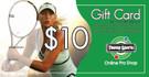 $10 Tennis Gift Card