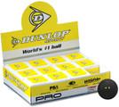 Dunlop Pro Squash Ball - 12 Balls