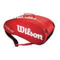 Wilson Tour Team Moulded 9pk Bag Red
