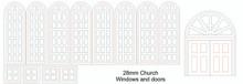 28mm Church Doors and Windows