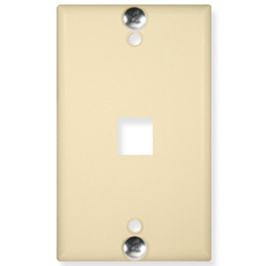 ICC WALL PLATE, PHONE, FLUSH, 1-PORT, IVORY IC107FFWIV