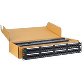 ICC PATCH PANEL, CAT 6, 48-PORT, 2 RMS, 6 PK ICMPP4860V